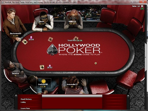 HollywoodPoker Table