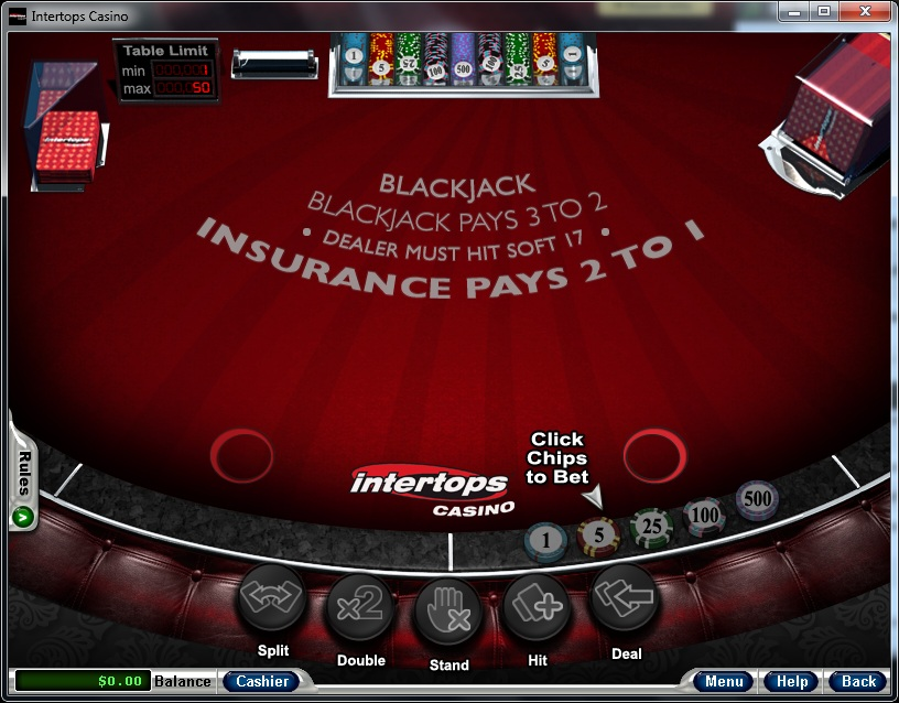 Intertops Casino Blackjack
