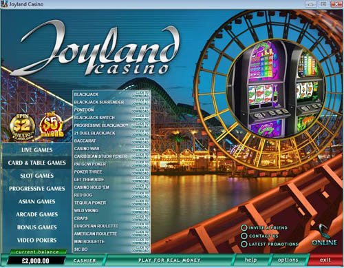 Joyland Casino Lobby