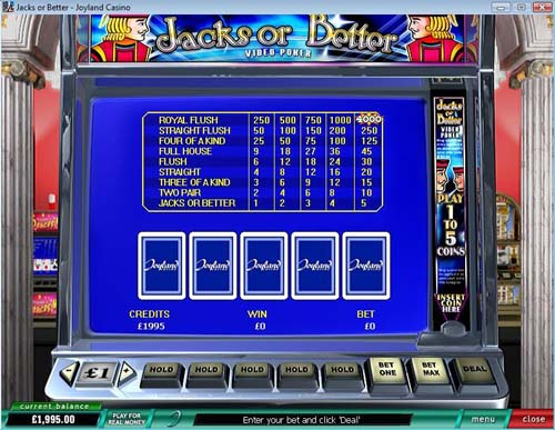Joyland Casino Video Poker