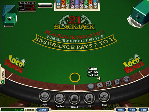 Loco Panda Casino Blackjack