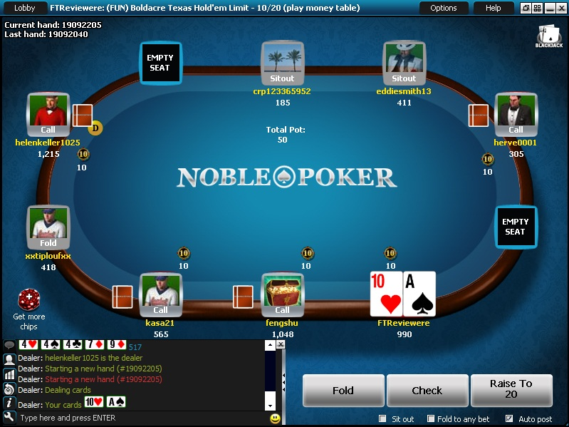 Noble Poker Table