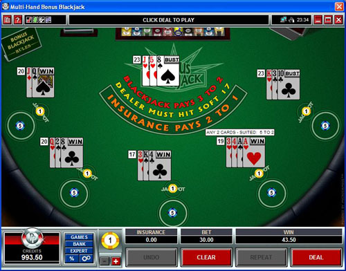 Platinum Play Casino Blackjack
