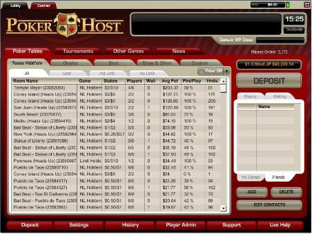 Poker Host Review w/ Bonus & Download Details, $5000 Free