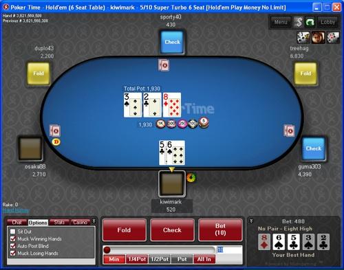 POKERTIME 50$ NO DEPOSIT PokerTime-Table