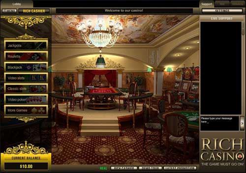 Rich Casino Lobby