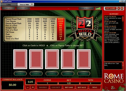 Rome Casino Video Poker