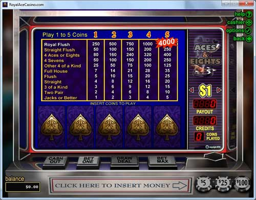 Royal Ace Casino Video Poker