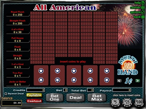 Rushmore Casino Video Poker