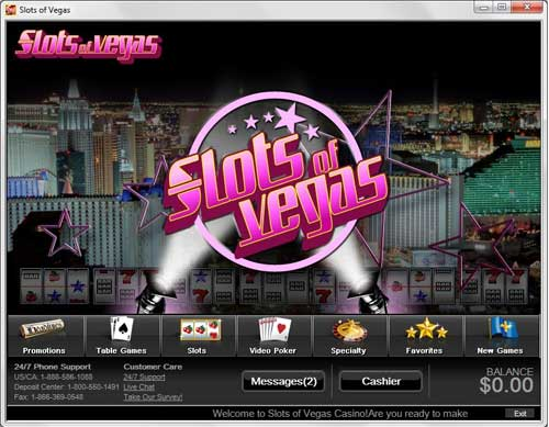 Slots of Vegas Lobby
