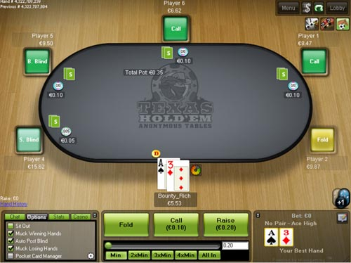 Stan James Poker Table