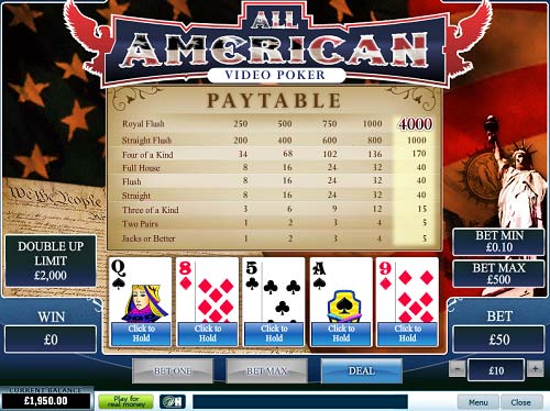 William Hill Casino Video Poker