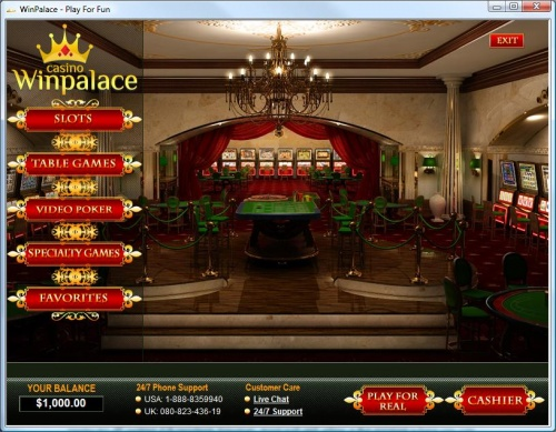 WinPalace Casino Lobby