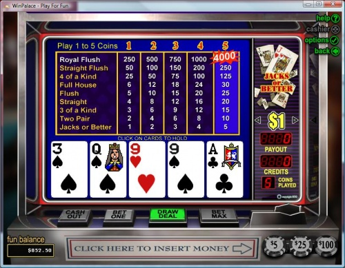WinPalace Casino Video Poker