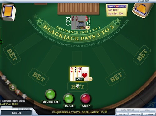 Zynga Plus Casino Blackjack