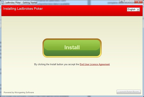 Ladbrokes Install Button