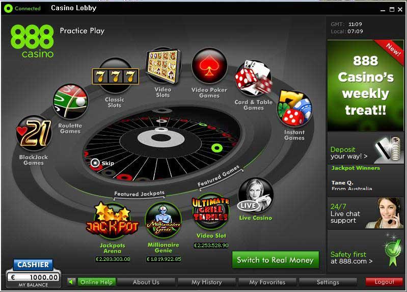 888 casino main lobby