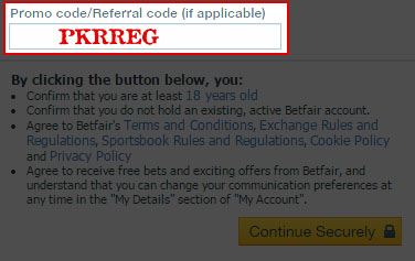 How to Enter the Betfair Promo/Referral Code: PKRREG