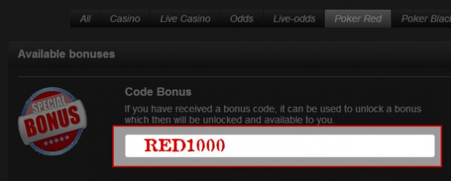 Entering the Betsafe Poker Bonus Code