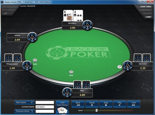 BlackChip Poker Graphical Hand Replayer