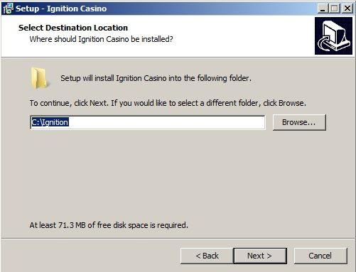 Install Destination Folder