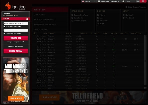 Ignition Poker Client Software