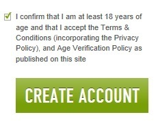 "Click on ""Create Account"" to complete the account creation process"