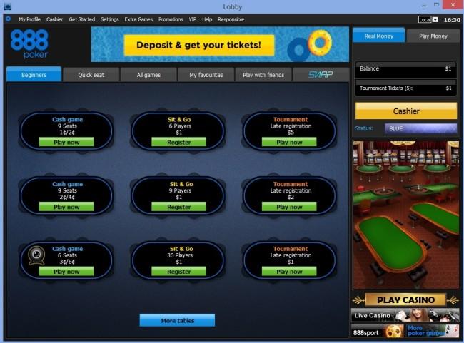 Poker 888 bonus 8