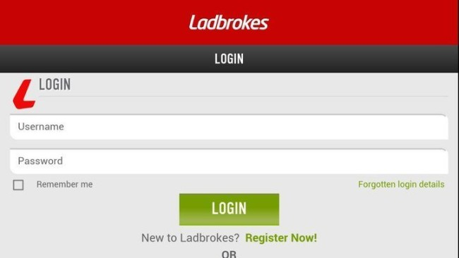 Mobile Login at Ladbrokes