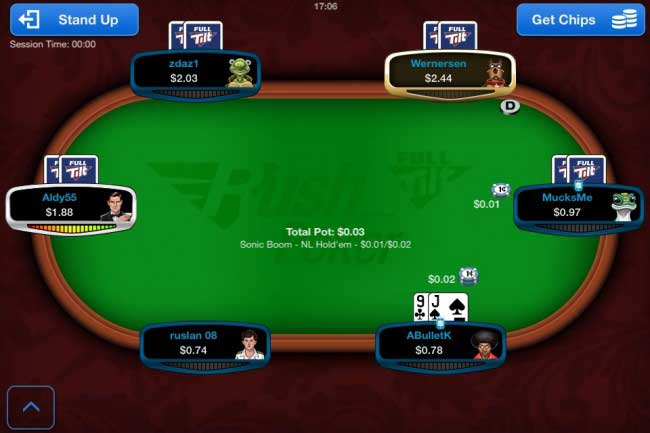 Mobile Rush Poker Table