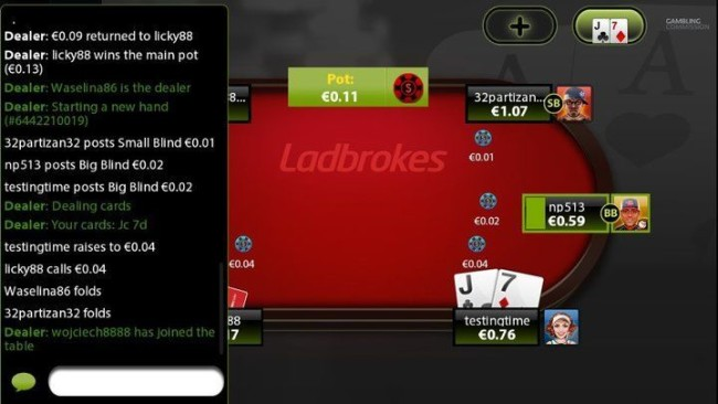Mobile Table History at Ladbrokes