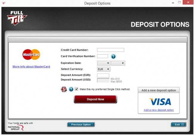 Deposit Information