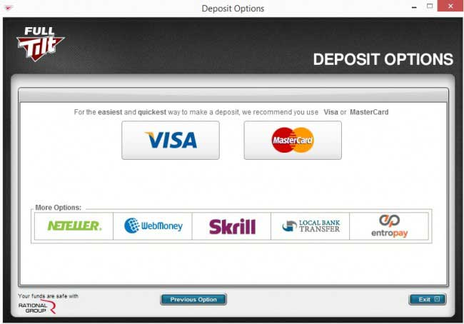 Payment Method Window