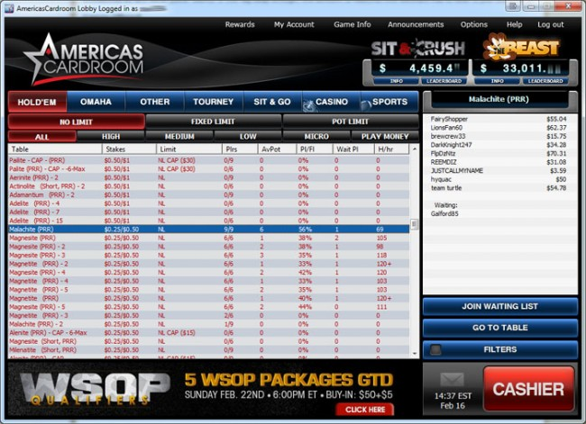 Americas Cardroom Download Software Guide And Game Review