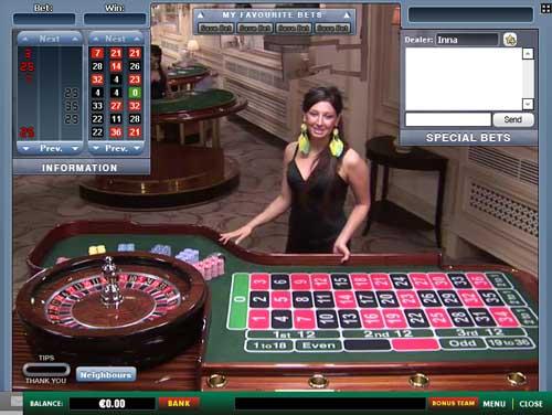 Live Dealer Roulette at bet365