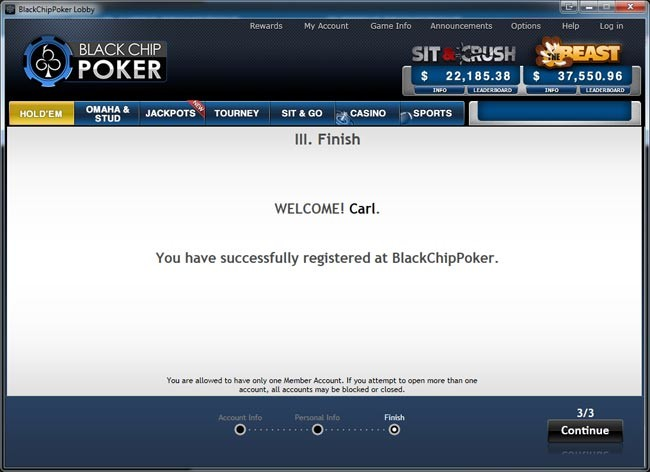 Blackchip Poker: Welcome!