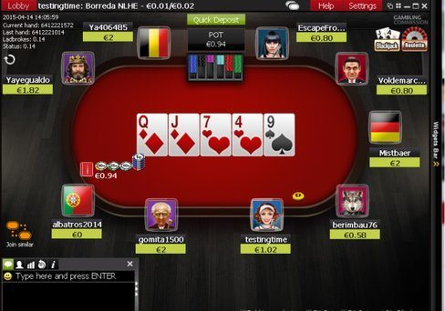 Ladbrokes Poker Table