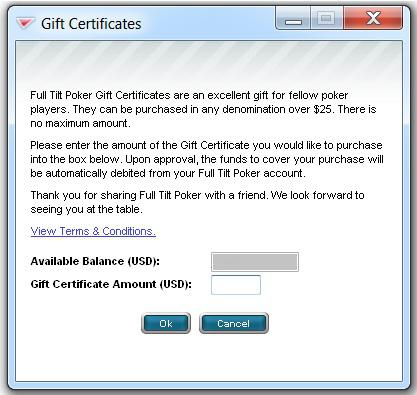 Purchasing FTP Gift Certs