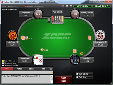 Zoom Poker Table