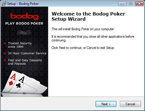 Bodog Setup Wizard