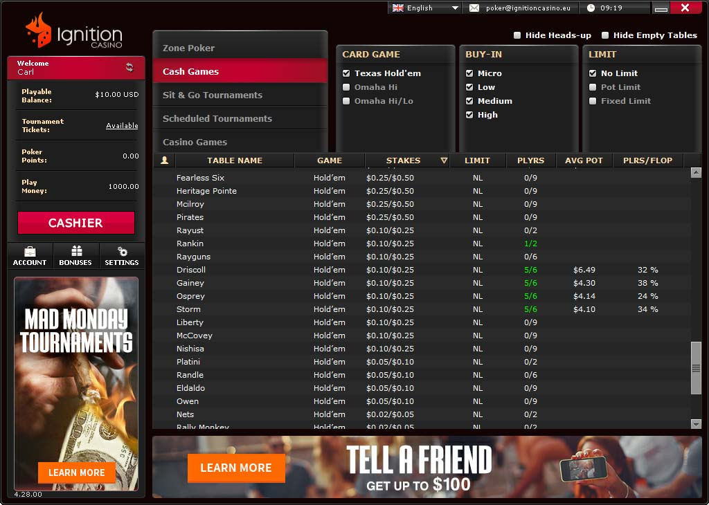 Bonus poker online free