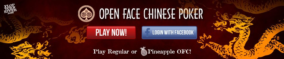 Play Open Face Chinese Poker Online